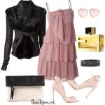 Rochie roz cu volane in categoria rochii de ocazie