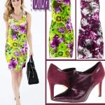 Rochii cu print floral si pantofi Calvin Klein