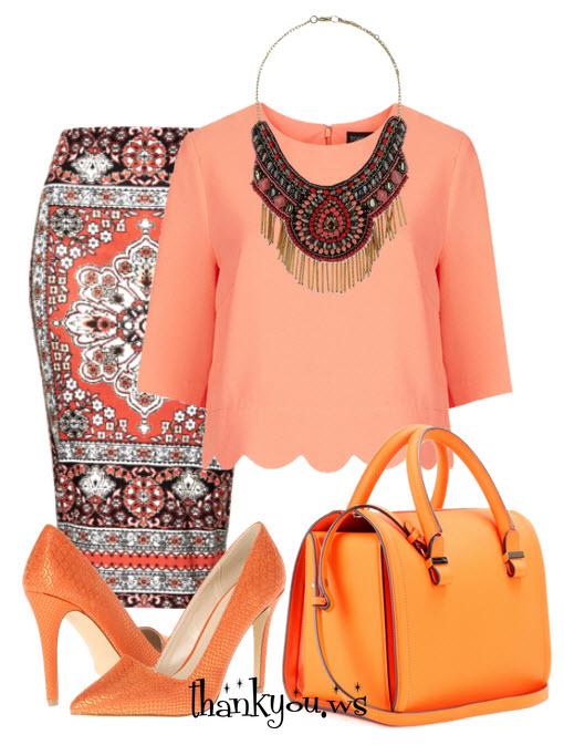 pantofi portocalii in outfit boem