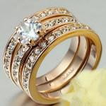 Inel auriu sau argintiu cu cristale de zirconiu