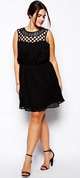 rochie neagra scurta masura mare