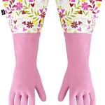 Manusi pentru menaj cu print floral