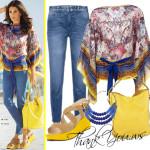 Outfit de vara cu jeansi si bluza larga