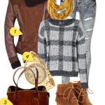 Outfit cu jacheta cu fermoare botine si geanta