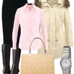 Tinuta office cu jacheta parka pentru toamna iarna -cum sa o porti