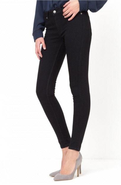 Jeans negru Cheap Mondey cu croiala pe picior